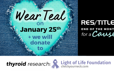January End of the Month for a Cause: Thyroid Awareness Month
