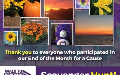 "September ""End of the Month for a Cause,"" Walk to End Alzheimer's RESULTS!"
