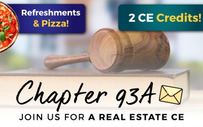 Join us: 12/10 in Worcester, MA for a 2 Credit CE Course on Chapter 93A!