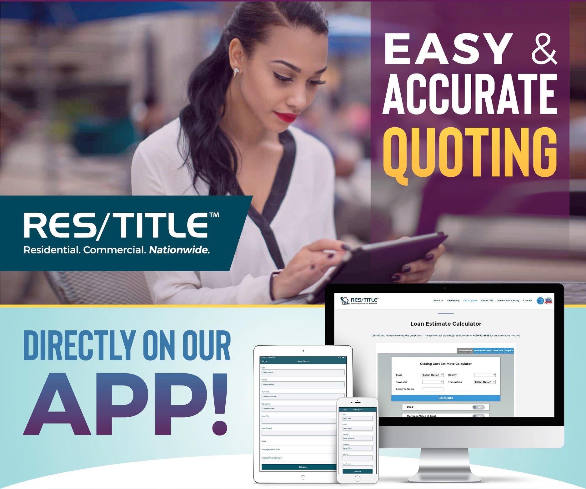 Easy & Accurate Quoting – Directly on our App